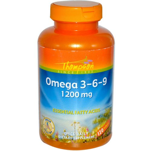 Thompson, Omega 3-6-9, 1200 mg, 120 Softgels Review