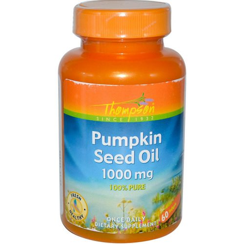 Thompson, Pumpkin Seed Oil, 1000 mg, 60 Softgels Review