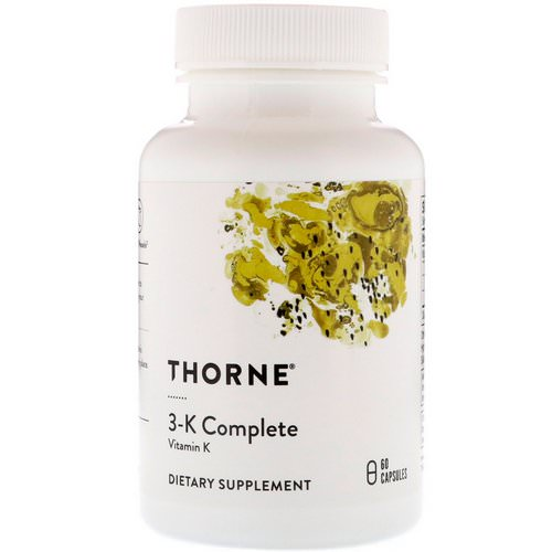 Thorne Research, 3-K Complete, 60 Capsules Review