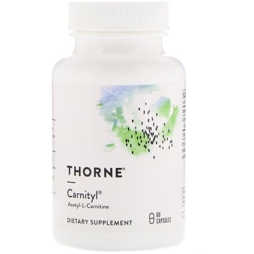 Thorne Research, Carnityl, Acetyl-L-Carnitine, 60 Capsules Review