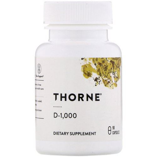 Thorne Research, D-1000, 90 Capsules Review
