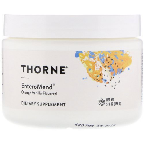 Thorne Research, EnteroMend, Orange Vanilla, 5.9 oz (168 g) Review
