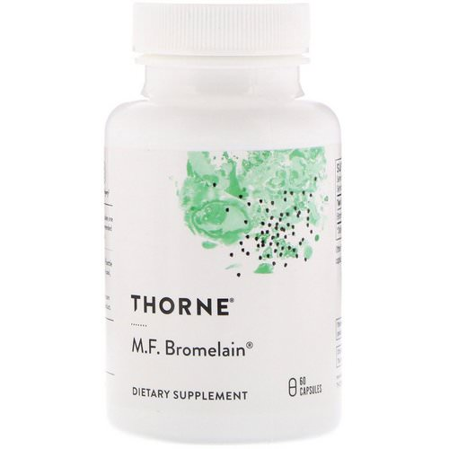 Thorne Research, M.F. Bromelain, 60 Capsules Review