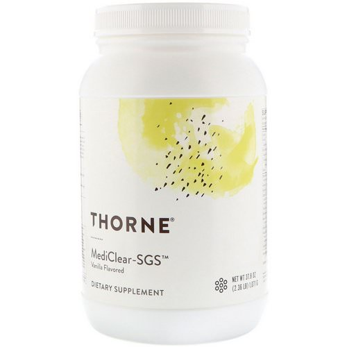 Thorne Research, Mediclear-SGS, Vanilla, 2.36 lbs (1071 g) Review
