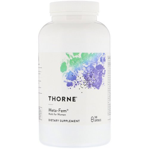 Thorne Research, Meta-Fem, Multi for Women, 240 Capsules Review