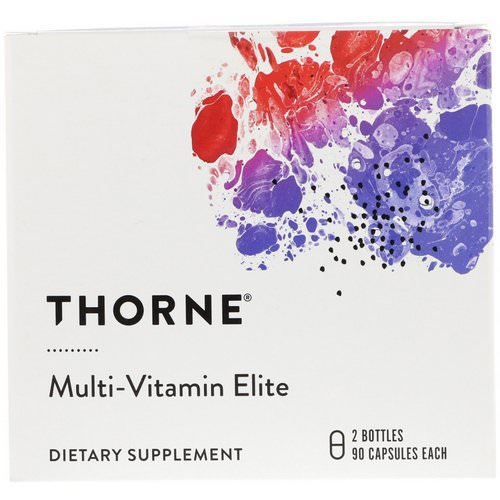 Thorne Research, Multi-Vitamin Elite, 2 Bottles, 90 Capsules Each Review