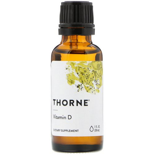 Thorne Research, Vitamin D, 1 fl oz (30 ml) Review