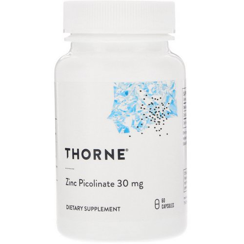 Thorne Research, Zinc Picolinate, 30 mg, 60 Capsules Review