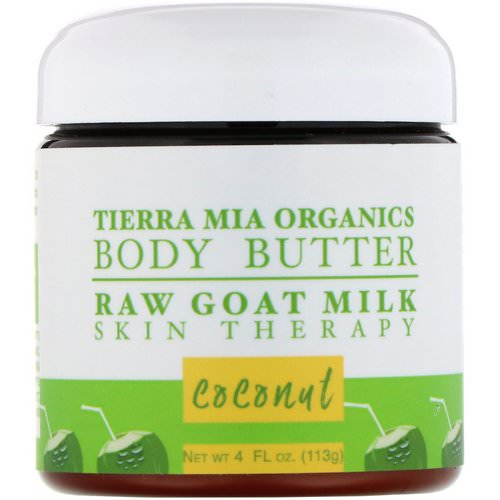 Tierra Mia Organics, Body Butter, Raw Goat Milk, Skin Therapy, Coconut, 4 fl oz (113 g) Review