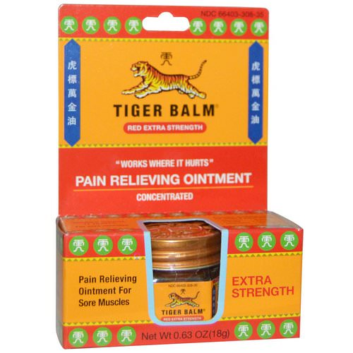 Tiger Balm, Pain Relieving Ointment, Extra Strength, .63 oz (18 g) Review
