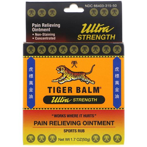 Tiger Balm, Pain Relieving Ointment, Ultra Strength, 1.7 oz (50 g) Review