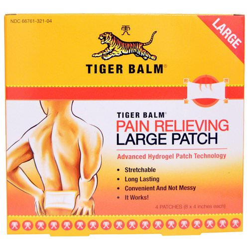 Tiger Balm, Pain Relieving Patch, Large, 4 Patches (8 x 4 in. Each) Review