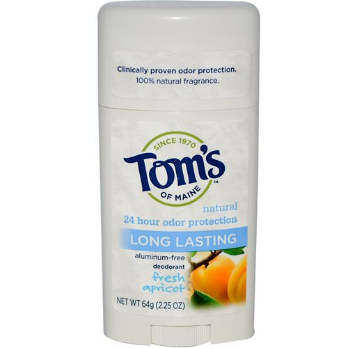Tom's of Maine, Natural Long Lasting Deodorant, Aluminum-Free, Fresh Apricot, 2.25 oz (64 g) Review