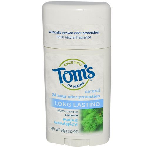 Tom's of Maine, Natural Long Lasting Deodorant, Aluminum-Free, Maine Woodspice, 2.25 oz (64 g) Review