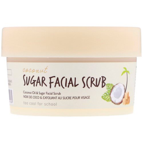 Too Cool for School, Coconut Sugar Facial Scrub, 3.38 fl oz (100 ml) Review