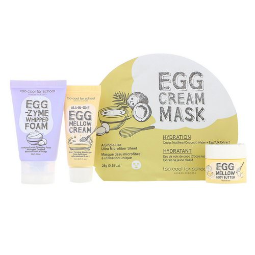Too Cool for School, Egg-ssential Skincare Mini Set, 4 Piece Set Review