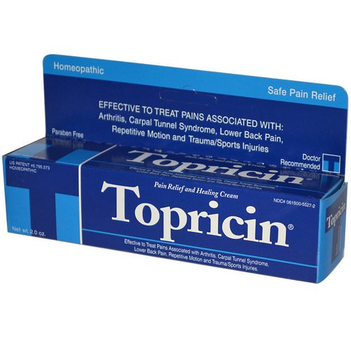 Topricin, Pain Relief and Healing Cream, 2.0 oz Review