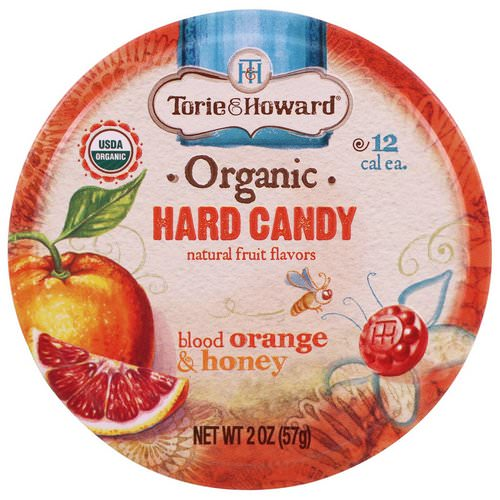 Torie & Howard, Organic, Hard Candy, Blood Orange & Honey, 2 oz (57 g) Review