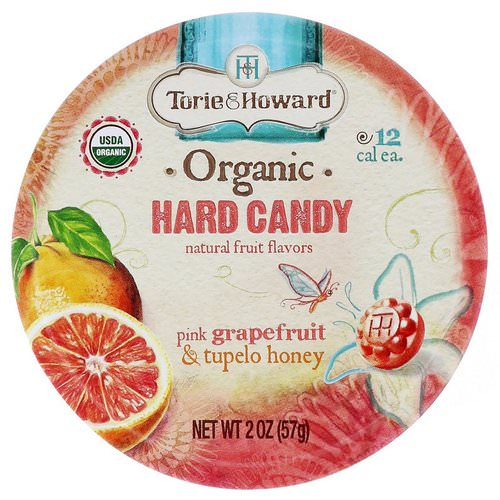 Torie & Howard, Organic, Hard Candy, Pink Grapefruit & Tupelo Honey, 2 oz (57 g) Review