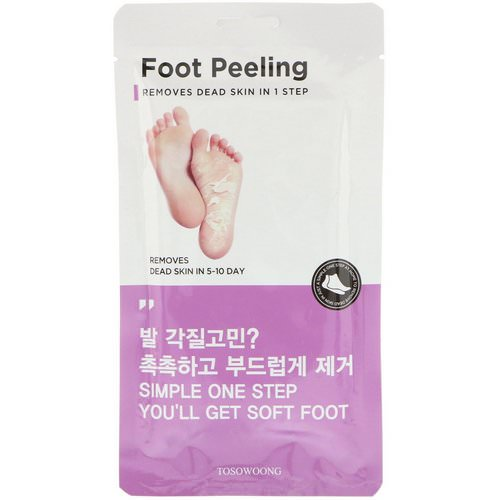 Tosowoong, Foot Peeling, Size Large, 2 Pieces, 20 g Each Review