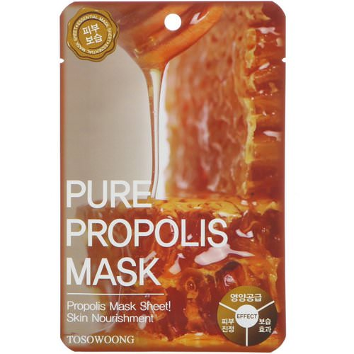 Tosowoong, Pure Propolis Mask, 10 Masks, 25 g Each Review