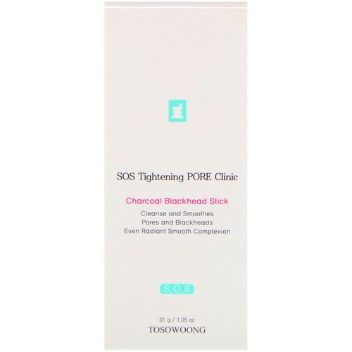 Tosowoong, SOS Tightening Pore Clinic Charcoal Blackhead Stick, 1.05 oz (31 g) Review