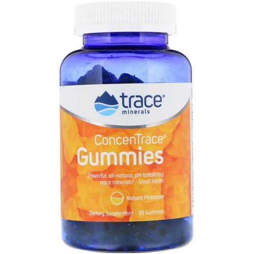 Trace Minerals Research, ConcenTrace, Gummies, Natural Pineapple, 90 Gummies Review