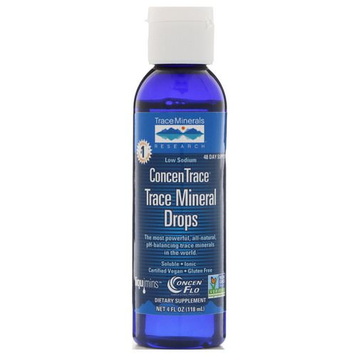 Trace Minerals Research, ConcenTrace, Trace Mineral Drops, 4 fl oz (118 ml) Review