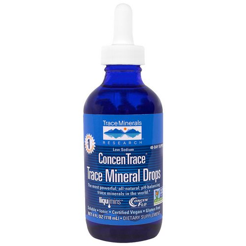 Trace Minerals Research, ConcenTrace, Trace Mineral Drops, Dropper Bottle, 4 fl oz (118 ml) Review