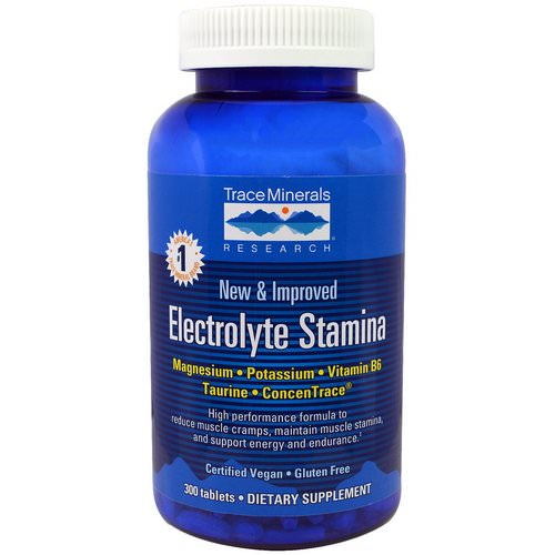 Trace Minerals Research, Electrolyte Stamina, 300 Tablets Review