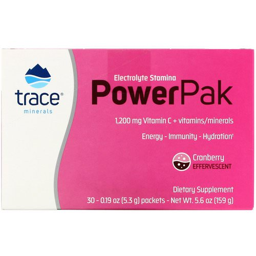 Trace Minerals Research, Electrolyte Stamina Power Pak, Cranberry, 30 Packets, 0.19 oz (5.3 g) Each Review