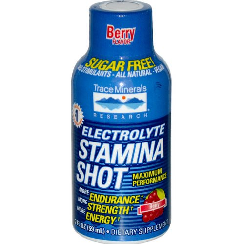 Trace Minerals Research, Electrolyte Stamina Shot, Berry, 2 fl oz (59 ml) Review