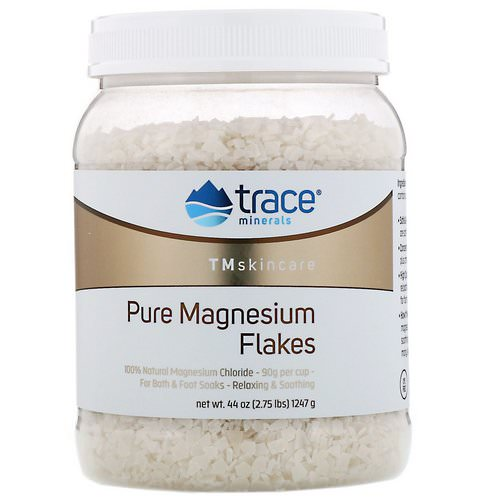 Trace Minerals Research, TM Skincare, Pure Magnesium Flakes, 2.75 lbs (1247 g) Review