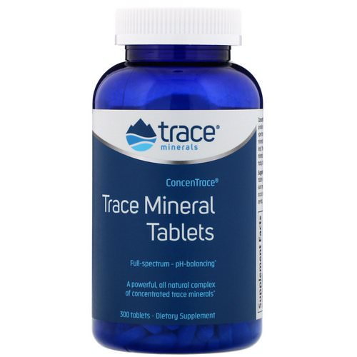 Trace Minerals Research, ConcenTrace, Trace Mineral Tablets, 300 Tablets Review