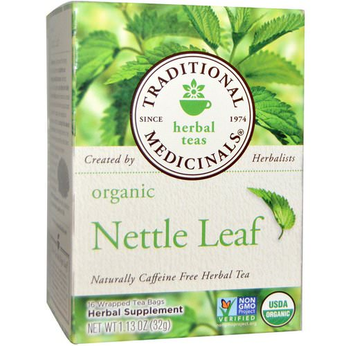 Traditional Medicinals, Herbal Teas, Organic Nettle Leaf Herbal Tea, Naturally Caffeine Free, 16 Wrapped Tea Bags, 1.13 oz (32 g) Review