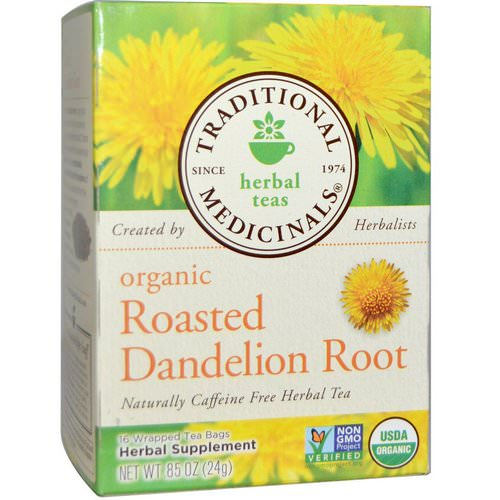 Traditional Medicinals, Herbal Teas, Organic Roasted Dandelion Root, Naturally Caffeine Free, 16 Wrapped Tea Bags, .85 oz (24 g) Review