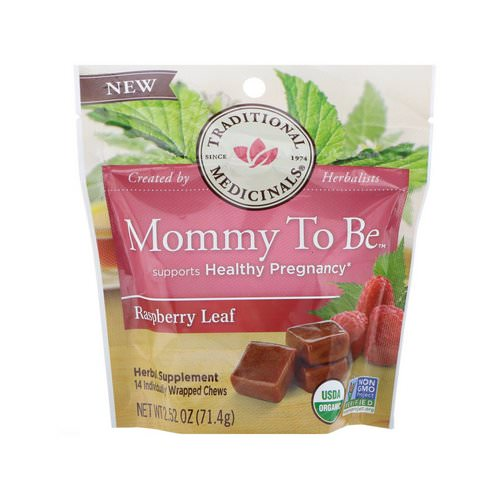 Traditional Medicinals, Organic, Mommy to Be, Raspberry Leaf, 14 Individually Wrapped Chews, 2.52 oz (71.4 g) Review