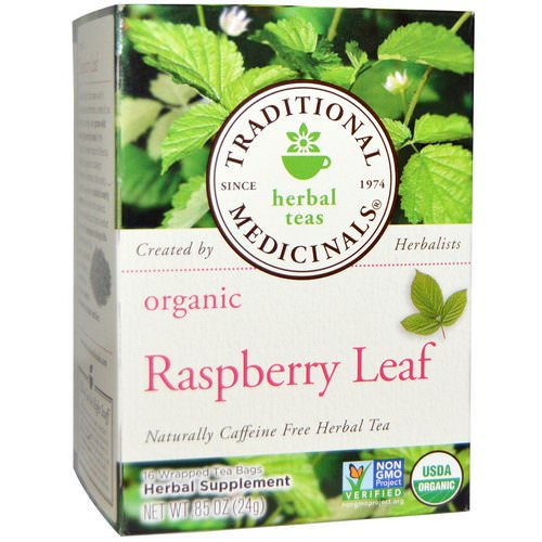 Traditional Medicinals, Relaxation Teas, Organic Raspberry Leaf, Naturally Caffeine Free, 16 Wrapped Tea Bags, .85 oz (24 g) Review