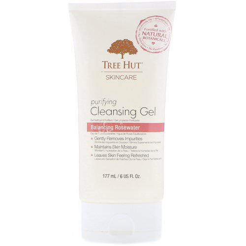 Tree Hut, Skincare, Purifying Cleansing Gel, Balancing Rosewater, 6 fl oz (177 ml) Review