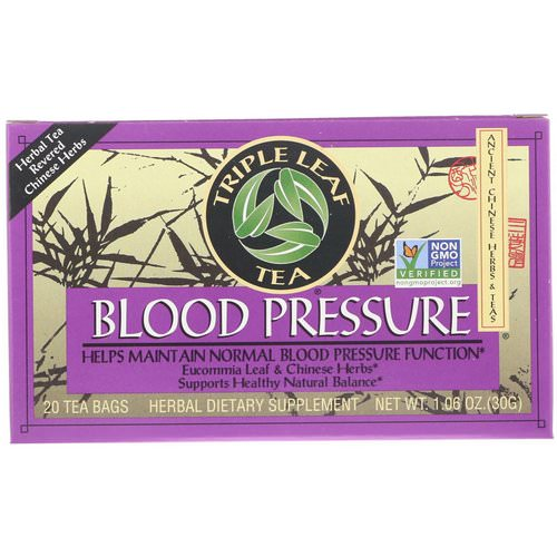 Triple Leaf Tea, Blood Pressure, 20 Tea Bags, 1.06 oz (30 g) Review