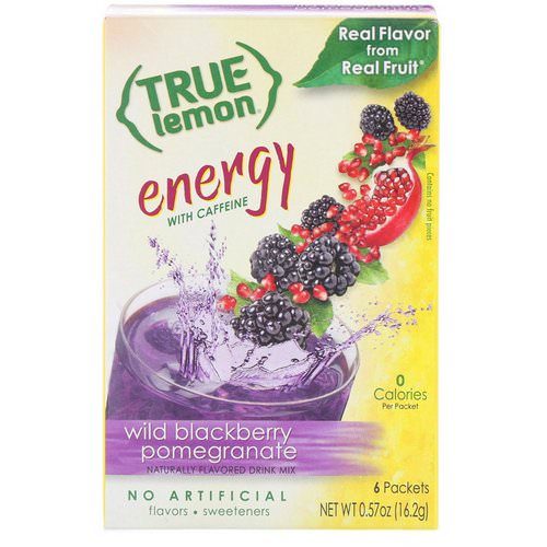 True Citrus, True Lemon, Energy, Wild Blackberry Pomegranate, 6 Packets, 0.57 oz (16.2 g) Review