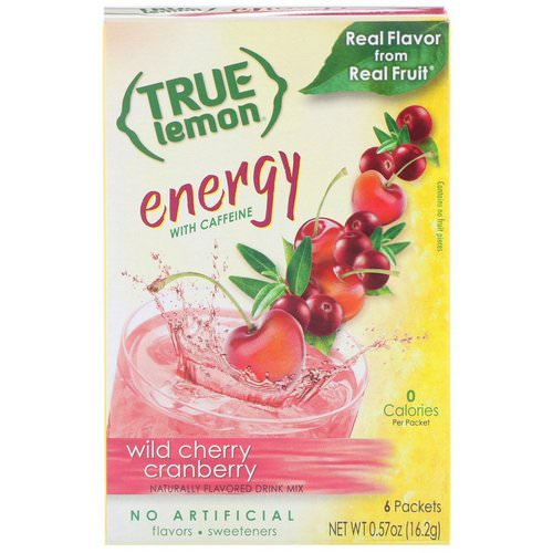 True Citrus, True Lemon, Energy, Wild Cherry Cranberry, 6 Packets, 0.57 oz (16.2 g) Review