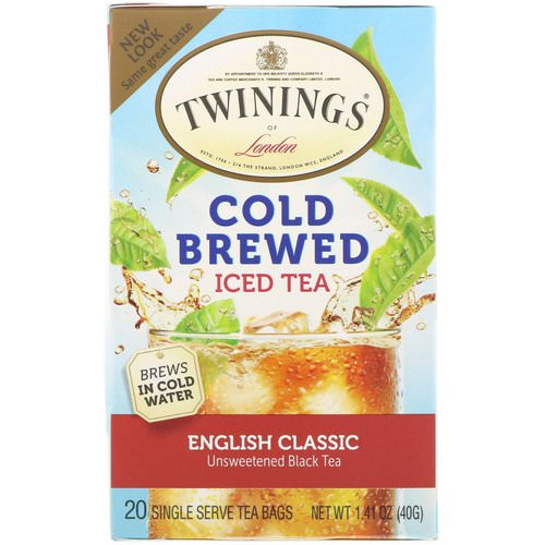 Twinings, Cold Brewed Iced Tea, English Classic, 20 Tea Bags, 1.41 oz (40 g) Review