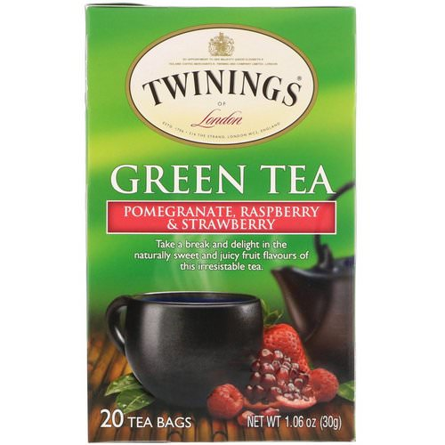 Twinings, Green Tea, Pomegranate, Raspberry & Strawberry, 20 Tea Bags, 1.06 oz (30 g) Review