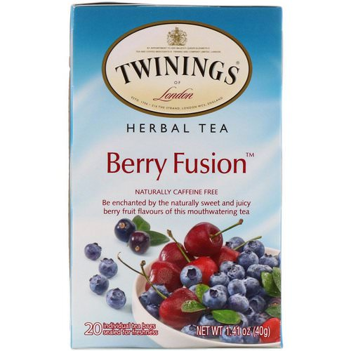Twinings, Herbal Tea, Berry Fusion, Caffeine Free, 20 Tea Bags, 1.41 oz (40 g) Review
