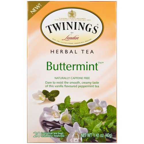 Twinings, Herbal Tea, Buttermint, Caffeine Free, 20 Individual Tea Bags, 1.41 oz (40 g) Review