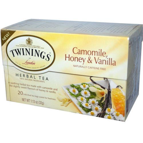 Twinings, Herbal Tea, Camomile, Honey & Vanilla, Caffeine Free, 20 Individual Tea Bags, 1.13 oz (32 g) Review