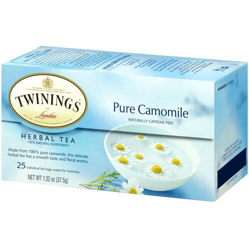 Twinings, Herbal Tea, Pure Camomile, Caffeine Free, 25 Tea Bags, 1.32 oz (37.5 g) Review
