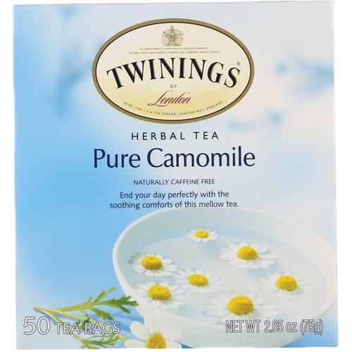 Twinings, Herbal Tea, Pure Camomile, Caffeine Free, 50 Tea Bags, 2.65 oz (75 g) Review