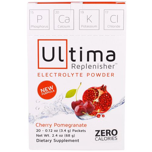 Ultima Replenisher, Electrolyte Powder, Cherry Pomegranate, 20 Packets, 0.12 oz (3.4 g) Review